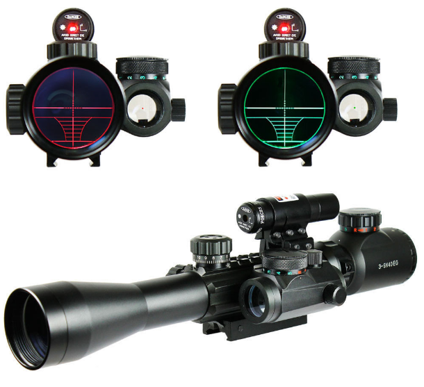 Chinoook 3-9X40 Illuminated Tactical Rifle Scope